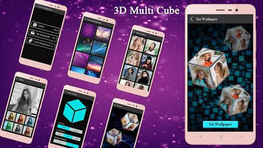 3D Multi Cube Live wallpaper- Love Cube LWP screenshot 1