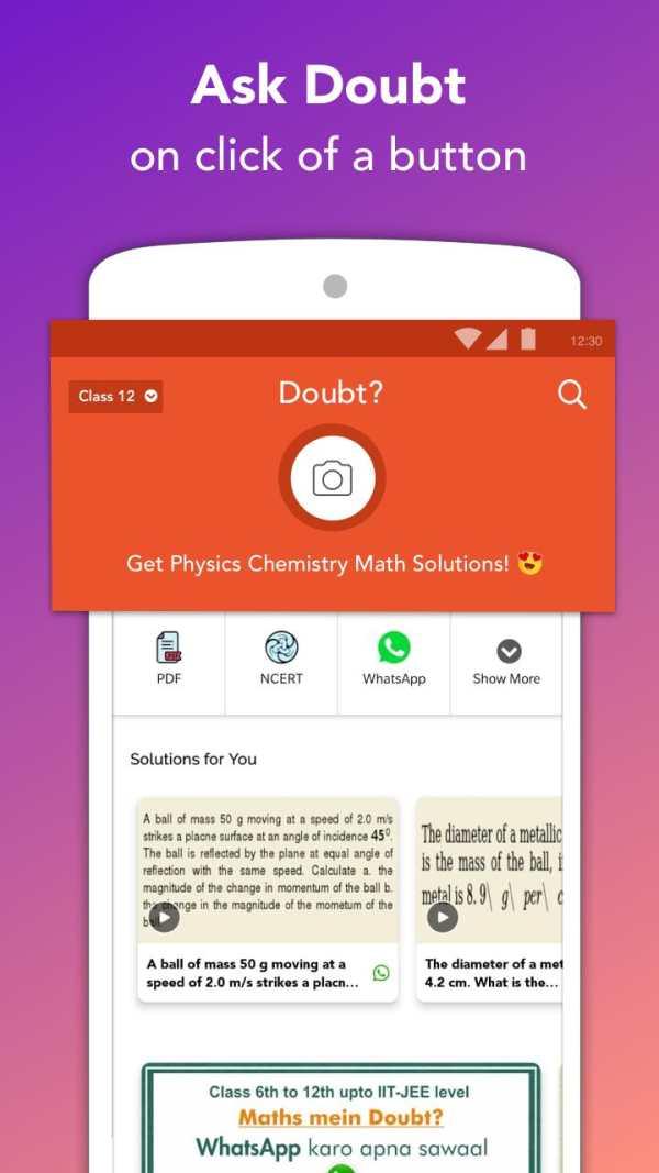 Doubtnut: NCERT Solutions, Free IIT JEE & NEET App screenshot 1