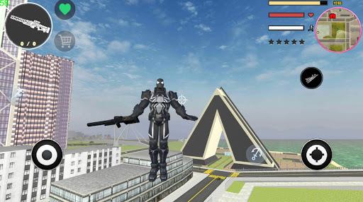 Agent Venom Rope Hero  Gngaster Crime screenshot 1