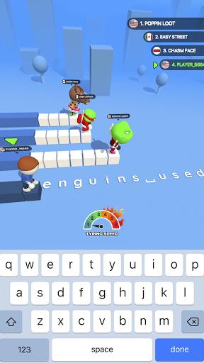Type Sprint: Schnell schreiben. Renn-Spiele 3D screenshot 1