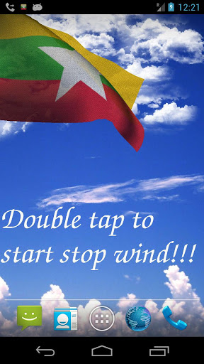 Myanmar Flag Live Wallpaper screenshot 1