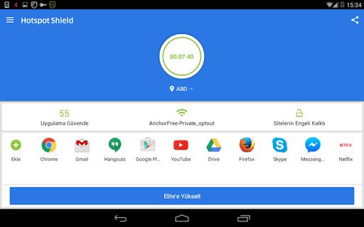 Hotspot Shield Ücretsiz VPN vekil & WiFi Güvenliği screenshot 11