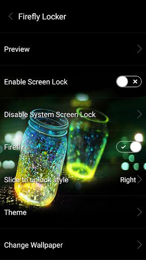 Fireflies lockscreen 1 تصوير الشاشة