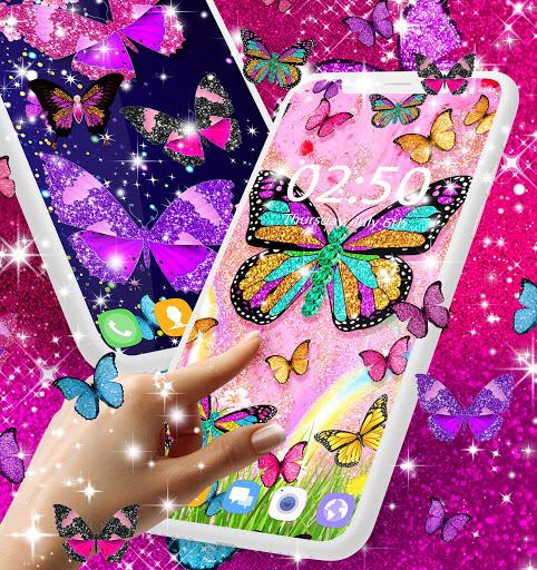 Glitter butterfly live wallpaper 3 تصوير الشاشة