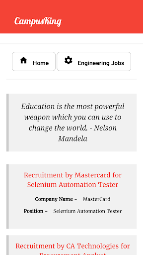 CampusKing-Referral Drives,Jobs for Engineers 3 تصوير الشاشة