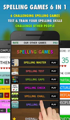 Spelling Games 6 in 1 - Free screenshot 2