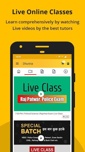 Dhurina - Live Classes, Online Test, eBooks, Notes screenshot 5