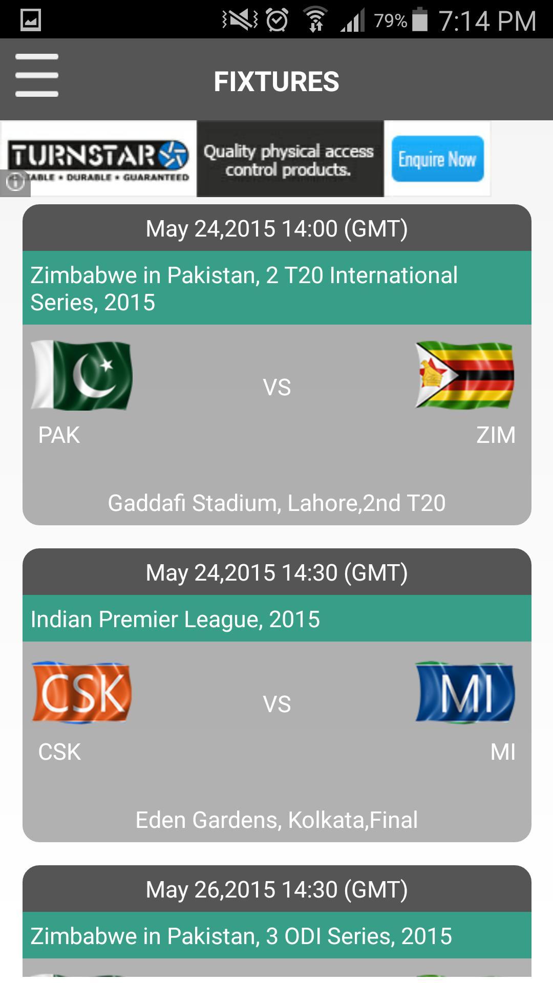 CricExtra - Live Cricket 2015 screenshot 2