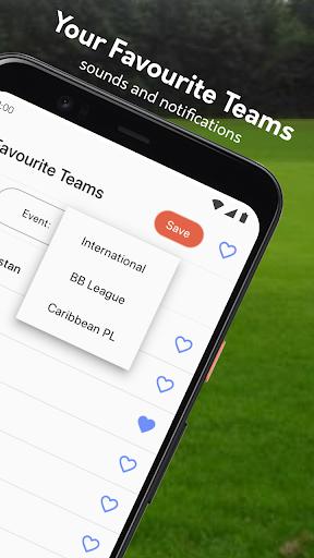 Live cricket scores, unique cricket app cricsmith 8 تصوير الشاشة