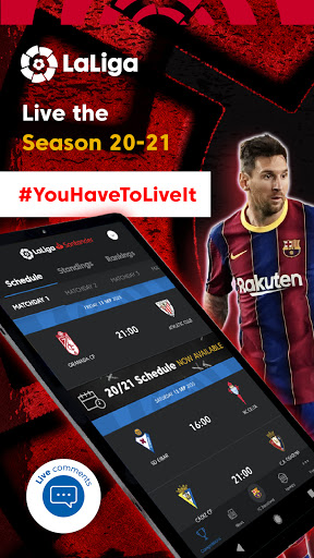 La Liga Official App - Live Soccer Scores & Stats स्क्रीनशॉट 9