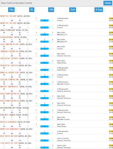 eRail.in Railways Train Time Table, Seats, Fare screenshot 9