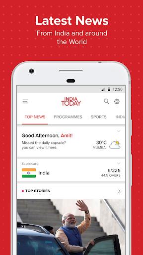 Latest English News & Free Live TV by India Today 1 تصوير الشاشة