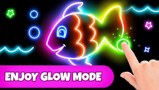 Coloring Games: Coloring Book, Painting, Glow Draw screenshot 2