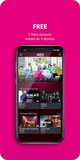 Astro GO - TV Series, Movies, Dramas & Live Sports 1 تصوير الشاشة