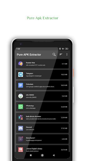 Pure Apk Extractor - App Backup and Restore 5 تصوير الشاشة
