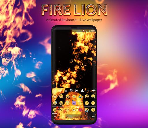 Fire Lion Animated Keyboard + Live Wallpaper screenshot 2