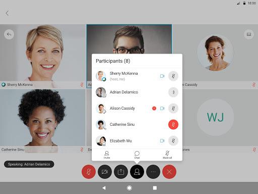 Cisco Webex Meetings 9 تصوير الشاشة