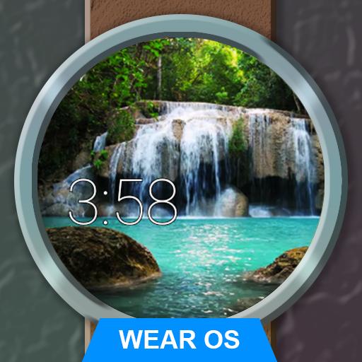 Watch Face Waterfall Wallpaper- Wear OS Smartwatch icon