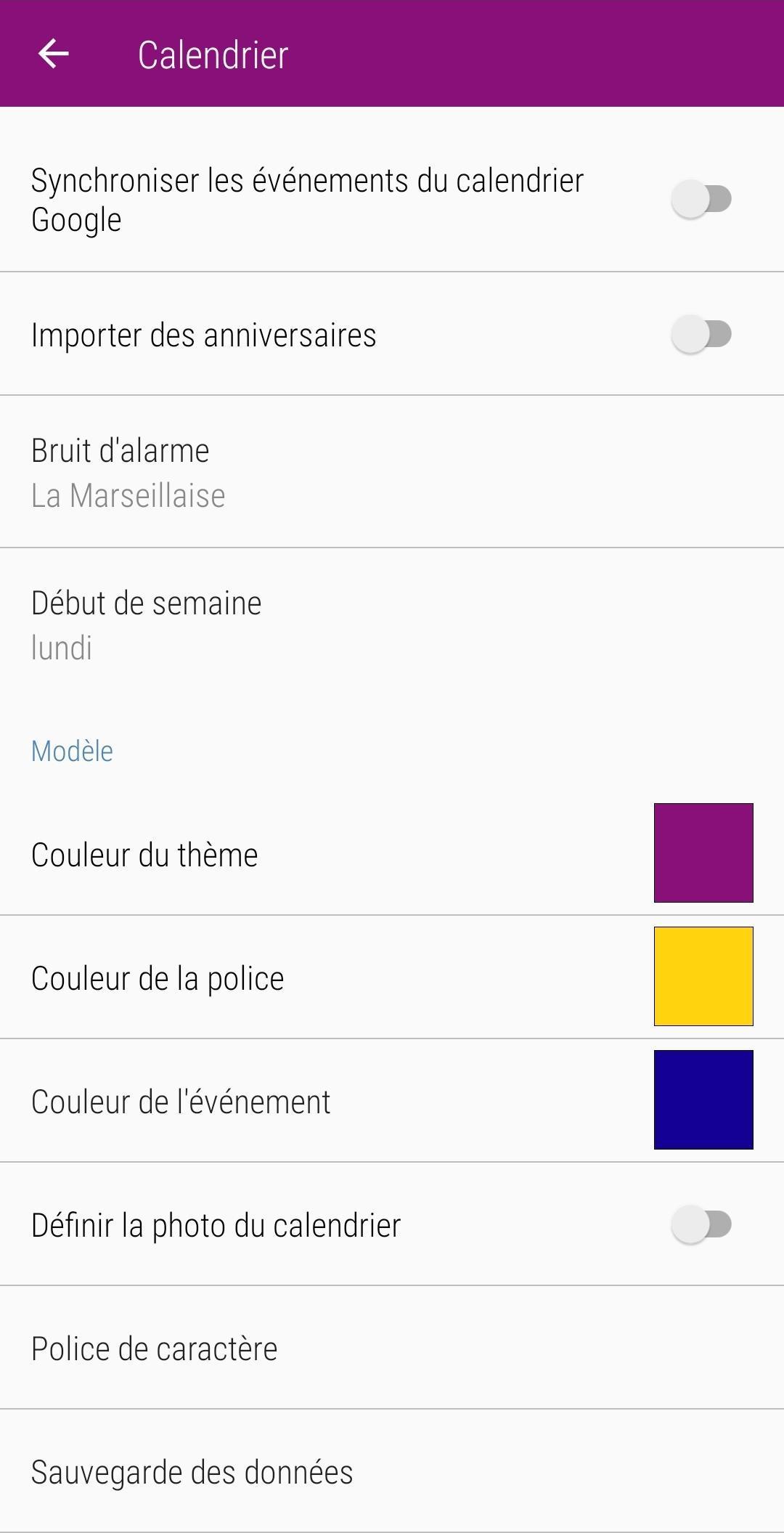 Calendrier 2020 Français screenshot 7