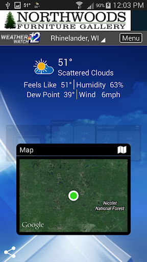 WJFW WeatherWatch 12 2 تصوير الشاشة