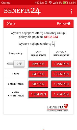 Ubezpieczenie OC AC Benefia 24 screenshot 4
