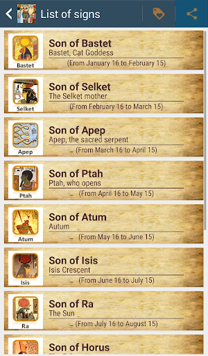 Horoscope and Tarot Egyptian screenshot 3