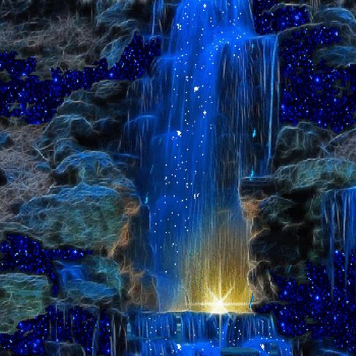 Magic Blue Fall LWP icon
