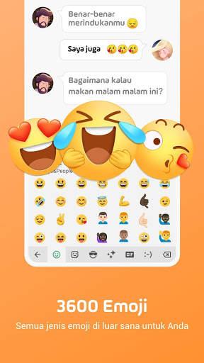 Facemoji Emoji Keyboard-Emoji Lucu,Stiker,Tema,GIF screenshot 2