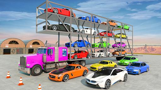 Crazy Car Transport Truck:New Offroad Driving Game screenshot 7