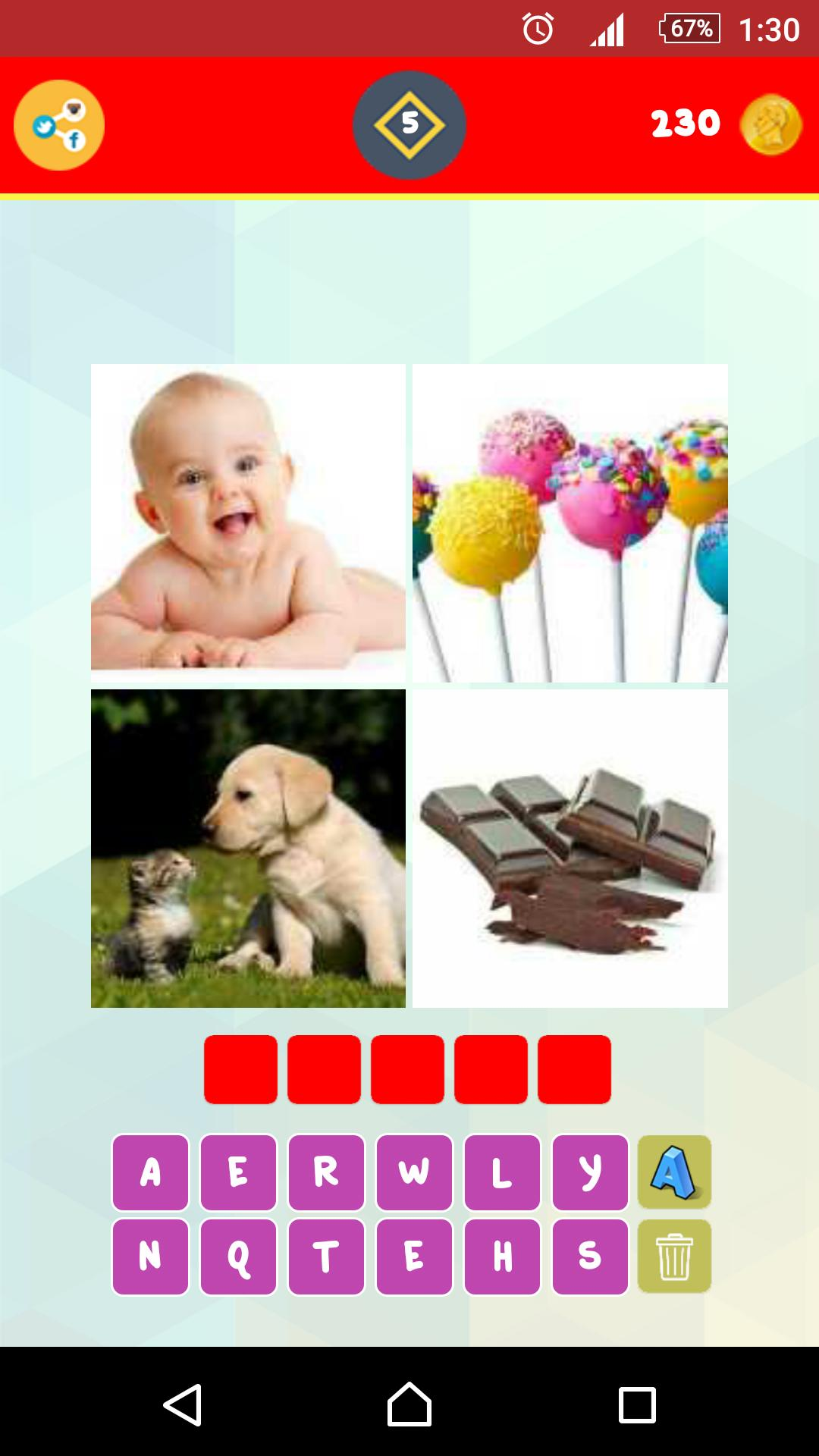 1 Word 4 Pictures Puzzle screenshot 2