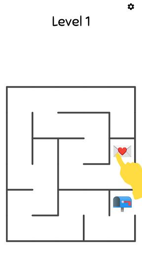 Emoji Maze Games - Challenging Maze Puzzle 1 تصوير الشاشة