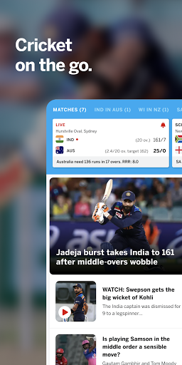 ESPNCricinfo - Live Cricket Scores, News & Videos screenshot 1