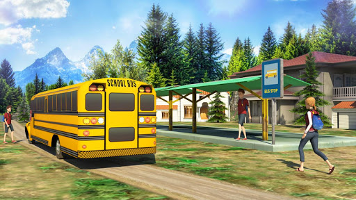 School Bus: Up Hill Driving screenshot 1