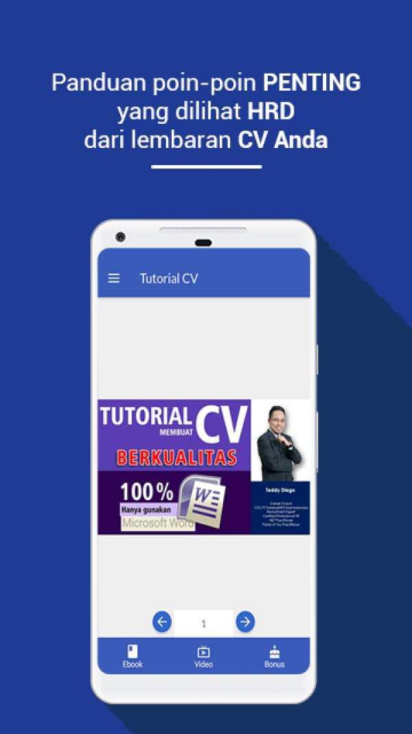 Tutorial CV screenshot 3