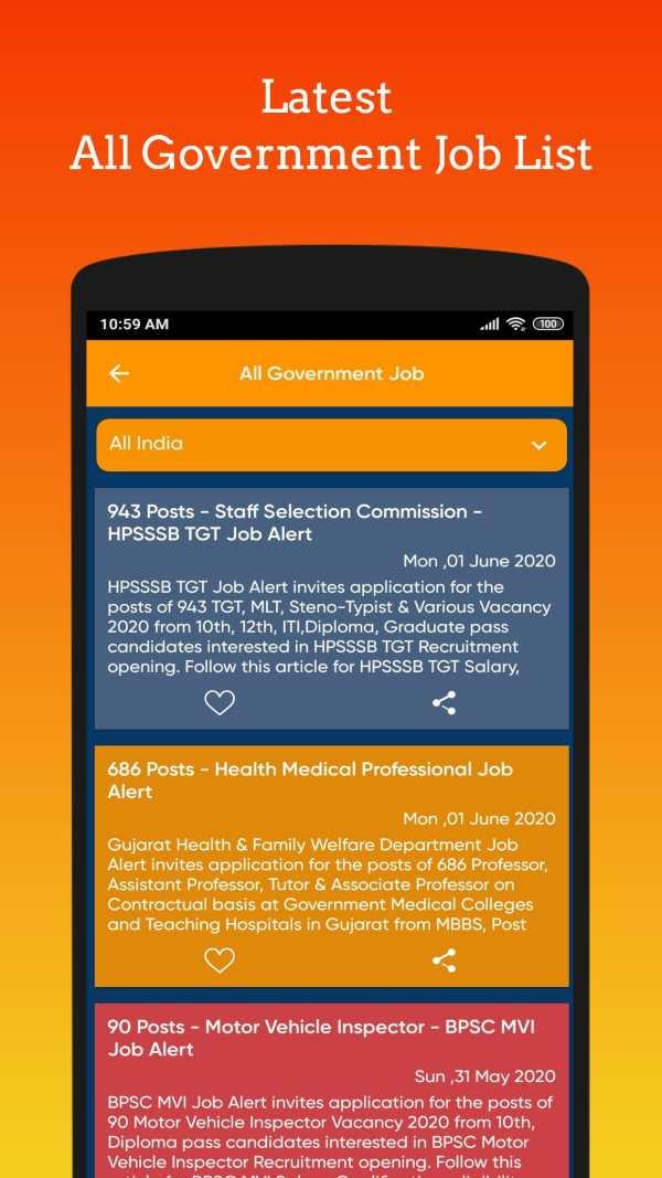 Government job - Govt Job alert (Sarkari Naukri) screenshot 3