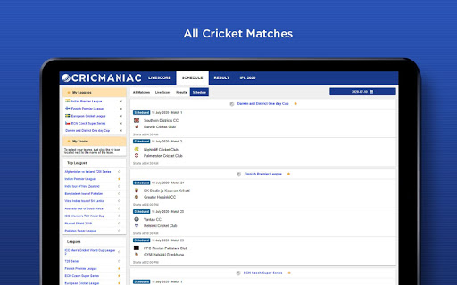 CricManiac - Live Cricket Scores screenshot 9