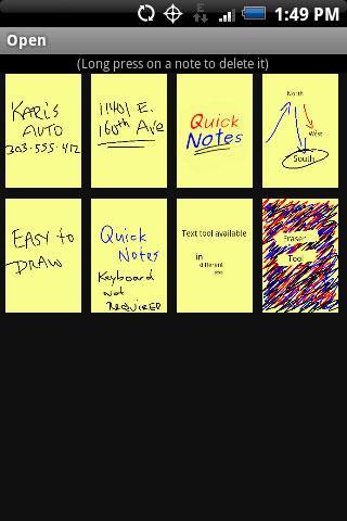 Quick Notes Free 1 تصوير الشاشة