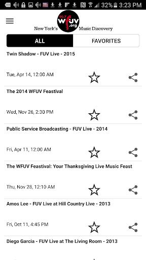 WFUV 3 تصوير الشاشة