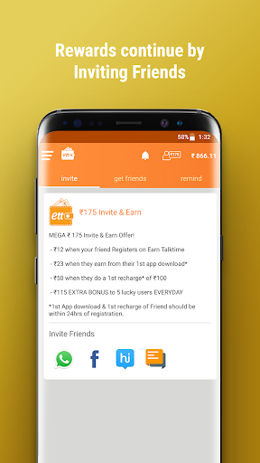 Earn Talktime - Get Recharges, Vouchers, & more! 5 تصوير الشاشة