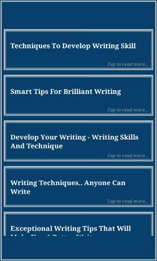 Writing Skills screenshot 3