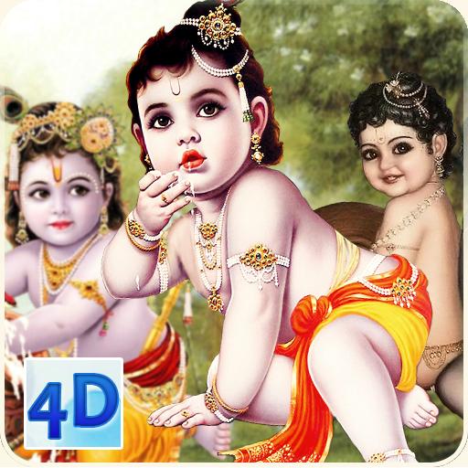 4D Little Krishna App & Live Wallpaper icon