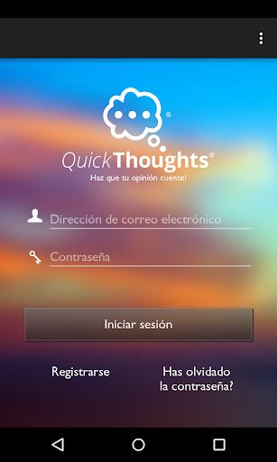 QuickThoughts screenshot 1
