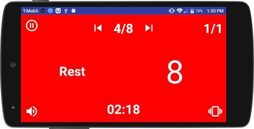Simple HIIT Interval Timer 8 تصوير الشاشة