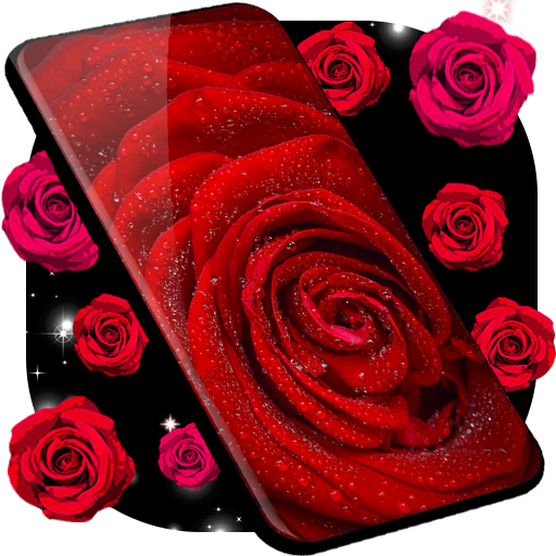 Red Rose Live Wallpaper 🌹 Flowers 4K Wallpapers иконка
