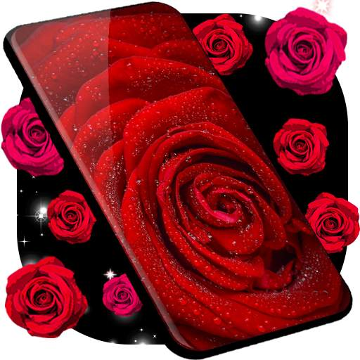 Red Rose Live Wallpaper 🌹 Flowers 4K Wallpapers