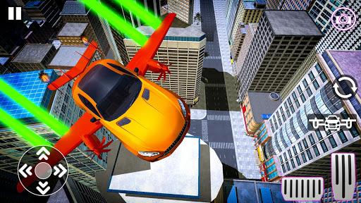 Real Light Flying Car Racing Simulator Games 2020 screenshot 3