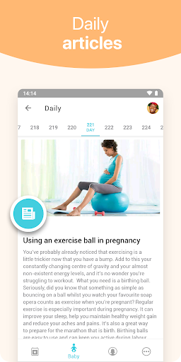 Pregnancy   | tracker app, week by week in 3D screenshot 3