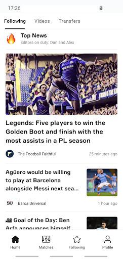 OneFootball - Soccer News, Scores & Stats 1 تصوير الشاشة