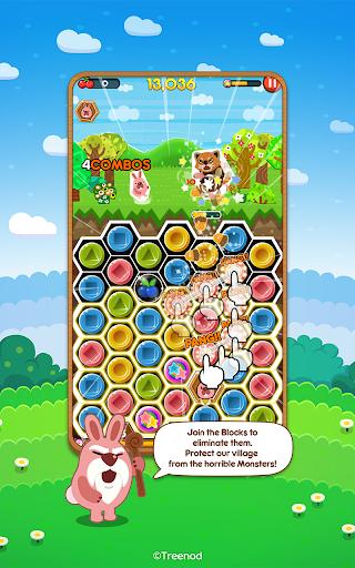 LINE Pokopang - POKOTA's puzzle swiping game! screenshot 1