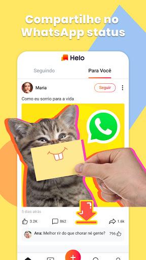 Helo - Memes, vídeos engraçados e Whatsapp Status screenshot 3